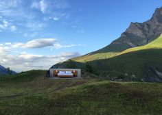 Null Stern's hotel with no walls has panoramic views of the Swiss Alps