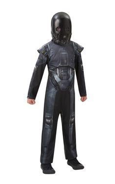 K-2SO Deluxe. Lasten K-2SO -hahmon naamiaisasu on haalarimallinen, viimeistellysti muotoiltu ja tummansävyinen naamiaisasu, johon kuuluu myös hahmon puolimaski.