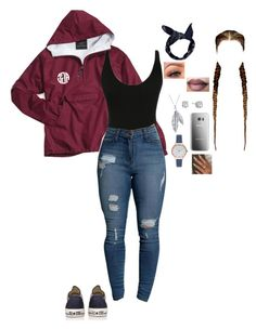 """""""Untitled #423"""" by chelle245 ❤ liked on Polyvore featuring Converse, Nina B, Lafonn, Olivia Burton and Boohoo"""