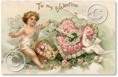 victorian valentines | Item 49 Victorian Valentine Fairy Plaque
