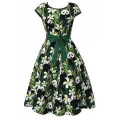 SHARE & Get it FREE   Panda and Bamboo Print Vintage DressFor Fashion Lovers only:80,000+ Items·FREE SHIPPING Join Dresslily: Get YOUR $50 NOW!