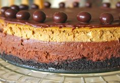 Chocolate, espresso, creamy, dense, rich, smooth. A tiny sliver goes a long way.   This baked cheesecake is a recipe that I was given fro...