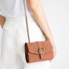Image 1 of LEATHER CROSSBODY BAG WITH BUCKLE from Zara