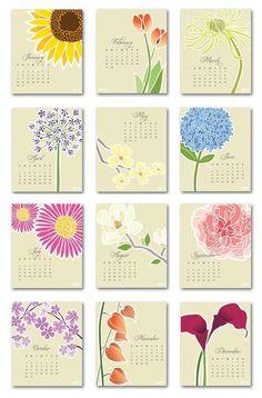 Gorgeous calendar! It's hanging on my fridge.