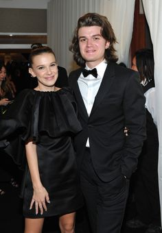 Joe Keery and Millie Bobby Brown at the Golden Globes Stranger Things Joe Keery, Steve Harrington Stranger Things, Bobby Brown Stranger Things, Stranger Things Aesthetic, Stranger Things Netflix, Long Island, Joe Kerry, Bae, Millie Bobby Brown