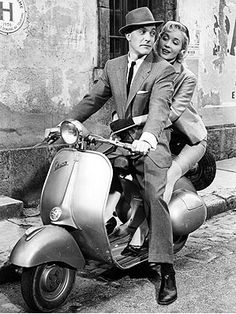 Going for a ride on a Vespa