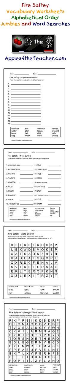 School Supplies interactive worksheets, alphabetical order ...