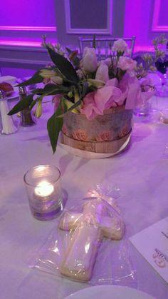 Hat Box Floral Arrangement,  Tulips, Hydrangeas, Alstroemerias & Carnations
