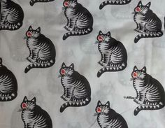 Kliban Cat Kiss Full Flat Sheet Fabric Craft Vintage Marlborough in Collectibles, Linens & Textiles (1930-Now), Bed & Bath Linens   eBay
