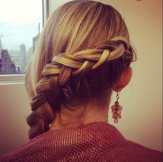 """People gave our editorial Digital Director's braid so many hearts on Instagram that we made a tutorial for you! Ironically, she calls it her """"Pinterest Braid."""" Watch now to find out how to do this easy, pretty hairstyle."""