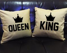 KING And Queen Couples Hats Mickey Mouse hats by Lessssismoreee