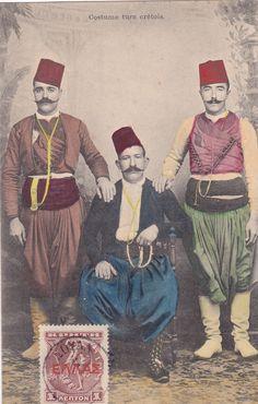GREECE CRETE CRETA COSTUME TURC CRETOIS TURKEY | eBay Greek History, Old Maps, Old Postcards, Greek Islands, Crete, Editor, Vintage Photos, The Past, Lost