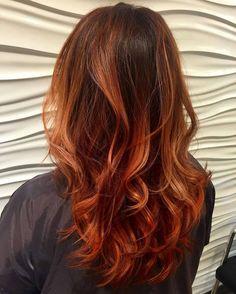 Ombre Kupferbraun Haarfarbe