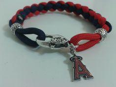 Los angeles Anaheim Angels Paracord Bracelet
