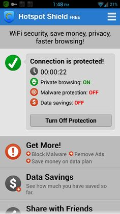 VPN cell phone privacy while using public WIFI
