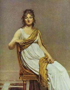 Eugene Delacroix -Portrait of Madame de Verninac, nee Henriette Delacroix, Sister of Eugene, 1799