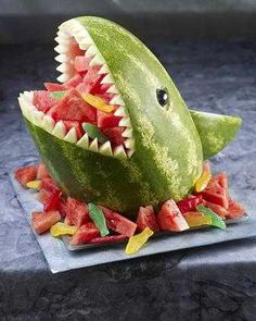 (Jenni) This is simply awesome. #Shark #Party #Summer #Watermelon