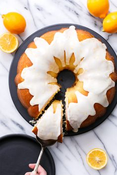 Greek Yogurt & Lemon Bundt Cake with Meyer Lemon Glaze