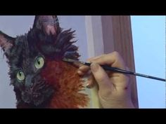 How to paint fur, feathers and animals! A basic speed painting tutorial of an owl. - YouTube