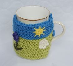 Hand Knitted Mug Cosy £4.99 Earring Crafts, Stocking Fillers, Beautiful Gifts, Gifts For Friends, Cosy, Hand Knitting, Gift Guide, Knit Crochet, December
