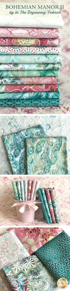 Bohemian Manor II is a vibrant floral collection by Jason Yenter for In The Beginning Fabrics