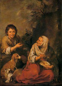 Bartolomé Esteban Perez Murillo - Old Woman and Boy -