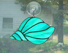Handmade Stained Glass CONCH SHELL Suncatcher (S059)