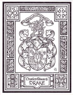 Andrew Stewart Jamieson Heraldic Artist | The above are classic armorial bookplates from the Canadian studio of ...
