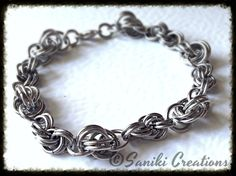 Chainmaille Love Knot and Double Spiral bracelet - Saniki Creations