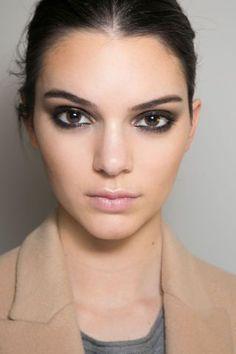 Charcoal smudged eyeliner