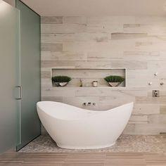 Bathroom Design Inspiration, Bathroom Interior Design, Master Bathroom Tub, Master Bathroom Designs, Small Bathroom With Tub, Luxury Master Bathrooms, Small Tub, Master Baths, Luxury Bath