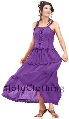 Ashlee Bohemain Ruffles Peasant Gypsy Cotton Corset Sun Dress - LOVE it! (Well ok, I love everything from Holy Clothing LOL)