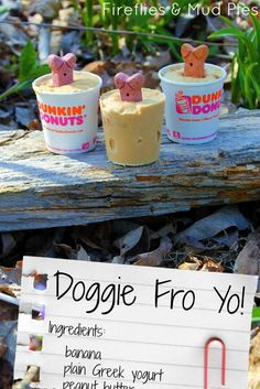 Making your own treat for your pup - Doggie Fro Yo. Perfect for the hot weather we are starting to get already!