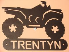 Atv 4x4 ADDRESS / NAME PLAQUE Home Decor Metal by artbyjack, $24.99