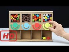 How to Make MULTI Candy Dispenser at Home DIY crafts crafts potter crafts glue gun crafts Candy Dispenser, Preschool Crafts, Crafts For Kids, Arts And Crafts, Cardboard Box Crafts, Paper Crafts, Vending Machine Diy, Diy Karton, Carton Diy