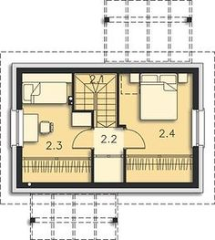 Martin LMW18 - Rzut poddasza Apartment Layout, Floor Plans, House, Haus, Home, Floor Plan Drawing, Homes