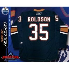 Dwayne Roloson Edmonton Oilers Blue Reebok Premier Jersey - NHL Replica Adult Jerseys. Dwayne Roloson Edmonton Oilers Blue Reebok Premier Jersey Comes with a Certificate of Authenticity from Sportsmemorabilia.com Comes fully certified with Certificate of Authenticity and tamper-evident hologram. Also backed by SportsMemorabilia.com's Authenticity Guarantee Edmonton Oilers, Hologram, Nhl, Authenticity, Certificate, Reebok, Events, My Style, Sports