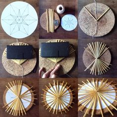 wald°sinnen: Strohsterne Level 2.  Scandinavian straw star ornaments Yule Crafts, Holiday Crafts, Diy And Crafts, Nordic Christmas, Christmas Crafts, Corn Dolly, Straw Art, Paper Weaving, Straw Weaving