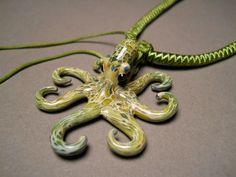Glassnfire       a glass art studio  - Mottled Green Colored Glass Octopus Pendant www.glassnfire.com/carmel-colored-glass-octopus-pendant/)