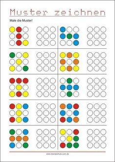 Transfer pattern - promoting eye hand coordination - SKG - Welcome Education Kindergarten Worksheets, Worksheets For Kids, Preschool Activities, Elementary Education, Kids Education, Special Education, Visual Perception Activities, Montessori Math, Kids Learning