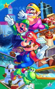 Mario Kart, Mario Y Luigi, Super Mario And Luigi, Super Mario Art, Super Mario Brothers, Super Mario World, Mundo Super Mario, Super Mario Nintendo, Super Mario Games