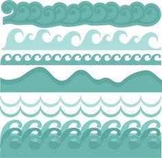 Wave Borders SVG cut files beach svg cut files ocean svg cut files free svgs