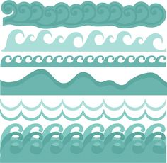 Wave Borders SVG cut files beach svg cut files ocean svg cut files free svgs