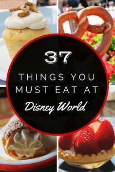 37 Things You Must Eat at Disney World Disney Food and Snacks: 37 Dinge, die Sie in Disney World essen müssen Comida Disney World, Disney World 2017, Walt Disney World Vacations, Disney Travel, Disney Worlds, Best Disney World Restaurants, Family Vacations, Disney World Birthday, Disneyland Vacations