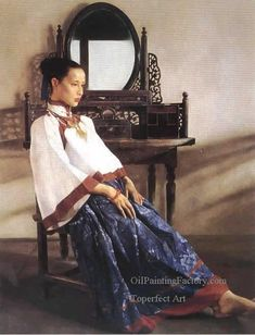Chen Yifei (陈逸飞; Ningbo 1946-2005) was a famous Chinese classic-style painter, art director and film director.