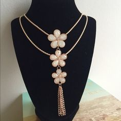 Statement layered long necklace Vintage Plum Flower Shiny Crystal Long Chain Necklace Pendant An unusual and tasteful design. Elegant ,Charming, Perfect Gift For your friends, lover. Suitable for daily Collocation, party, wedding.... 100% Brand New and High Quality Material :Alloy +Crystal Size : Length : About 48cm/22.83'' ,Big Flower :3.5*3.5*0.8cm,Small :2.5*2.5*0.6cm  Color : Golden Jewelry Necklaces