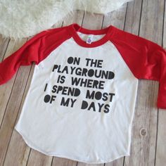 Playground Baby Toddler Funny Baby T-Shirt Funny by KyCaliDesign