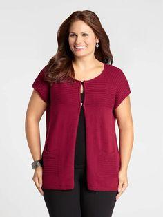 Cap Sleeve Ribbed Detail Vest Cap Sleeves, Vest, Detail, Sweaters, Style, Fashion, Latest Fashion, Moda, La Mode