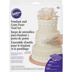 Fondant & Gum Paste Tool Set-9pcs, Multicolor