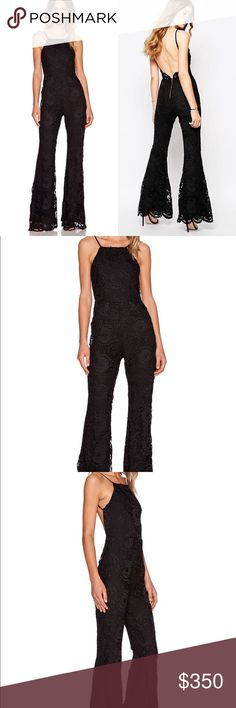 Stone Cold Fox Dylan Jumpsuit. Size 2 Black Stone Cold Fox Dylan Jumpsuit. Worn once for a  50th Birthday celebration. It's too iconic of an event to wear a second time...in mint condition. Open to reasonable offers. Stone Cold Fox Pants Jumpsuits & Rompers